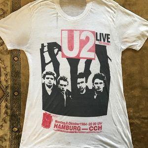 100% Authentic 1984 U2 Concert T Shirt